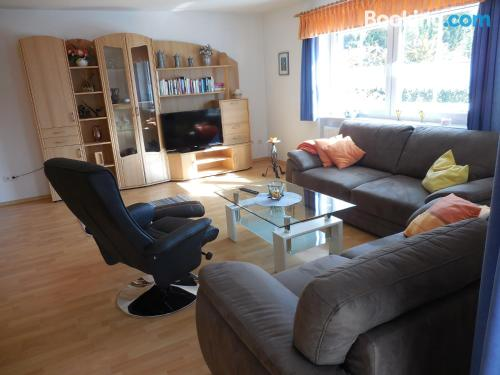 Terrace and wifi apartment in Lohberg. Central location!