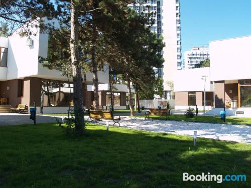 Stay cool: air apartment in Olimp. Good choice for 6 or more