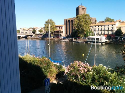 Stay cool: air home in Agde for two