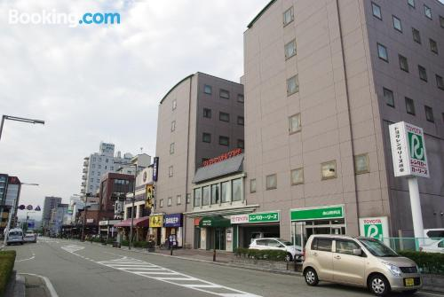 Superb location with air-con in Takayama, heating and internet