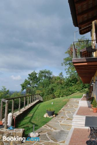 Terrace and internet place in Cormons. Good choice for solo travelers