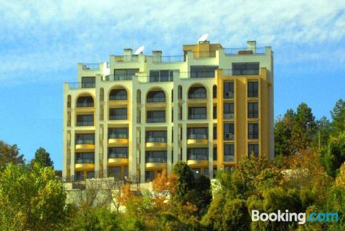 Cómodo apartamento en Balchik con piscina