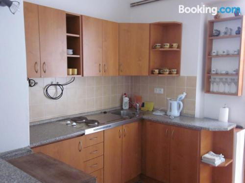 Central location in Dolní Dunajovice with heat and wifi