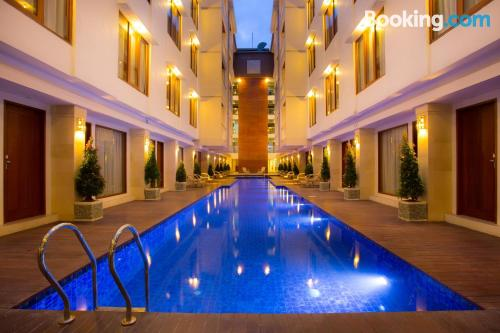 Incredible location and pool in Legian with wifi.