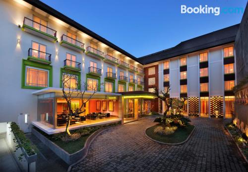 Home for 2 in Denpasar. Be cool, there\s air-con!