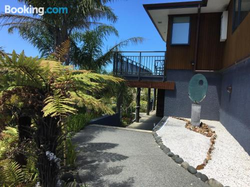 Place for couples in Whangamata with terrace