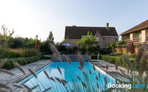 Swimming pool and wifi home in De Haan center with terrace