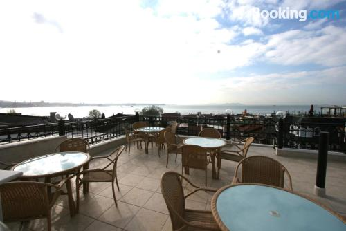 Amazing location in Istanbul with terrace