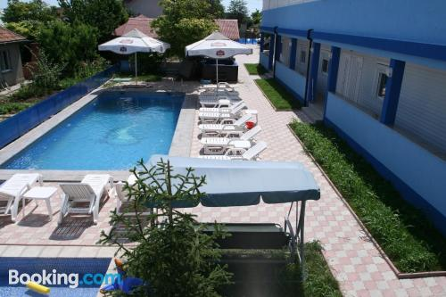Place with terrace. Downtown and swimming pool