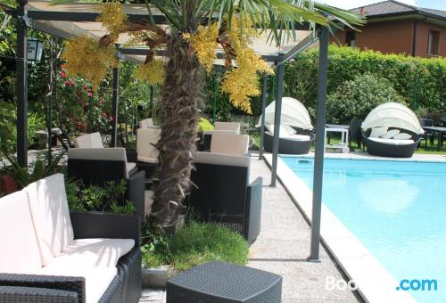 Pool and internet apartment in Maccagno Superiore. Good choice!