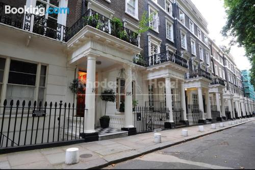 Terrace and internet home in London. Cute!