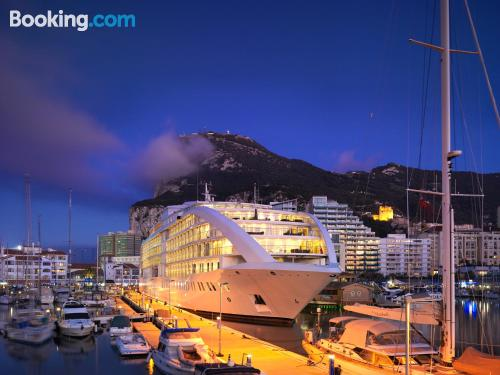 Home for two in Gibraltar. Be cool, there\s air-con!