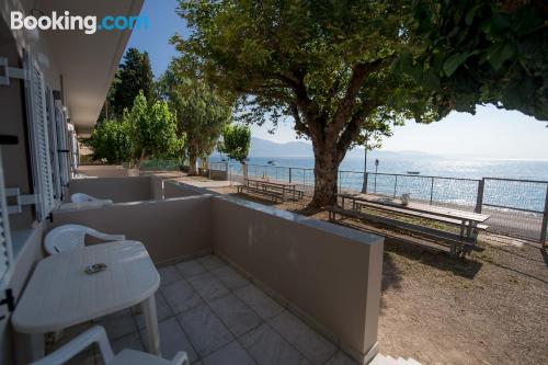 Place for 2 people in Lóngos with terrace
