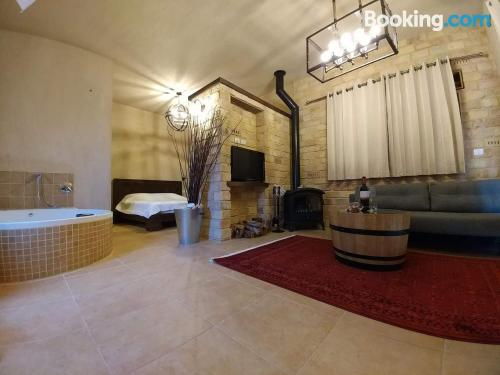 Swimming pool and internet home in Bruchim Qela' Alon for 2 people