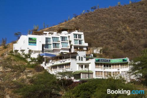 Place for couples in Taganga with terrace and internet