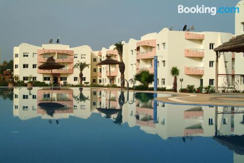 Two room apartment. Enjoy your pool in Mohammedia!