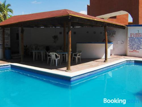 Swimming pool and internet apartment in San Patricio Melaque with terrace