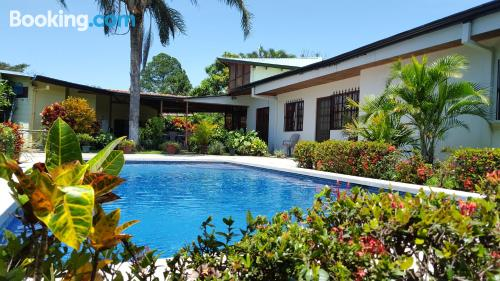 Terrace and internet apartment in Alajuela. Be cool, there\s air!