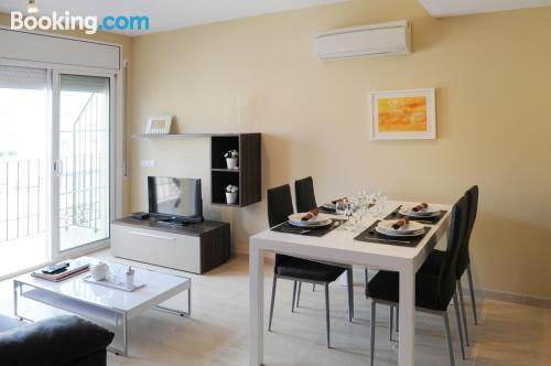Apartment with air-con. Enjoy your swimming pool in Sant Jaume d'Enveja!