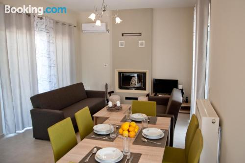 Good choice, 2 bedrooms. Be cool, there\s air-con!