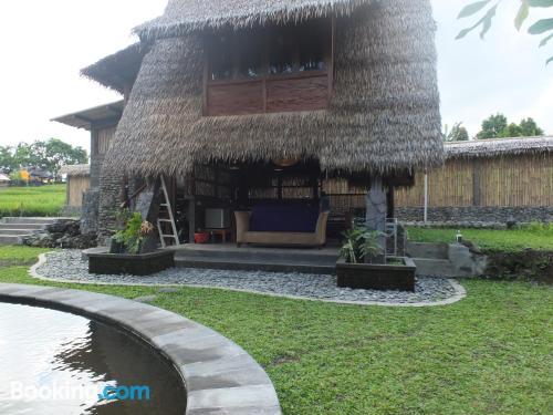 Apartamento con piscina con internet y terraza.