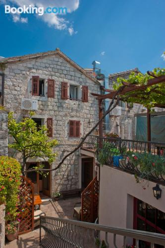 Sveti Stefan from your window! With heating