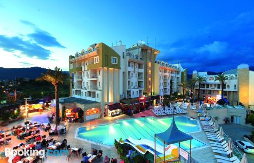 Terrace and internet home in Marmaris. Comfortable and center