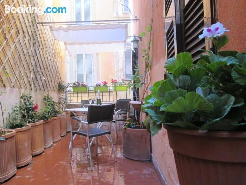 Center with air-con in Rome and terrace