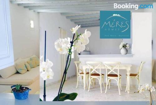 Apartamento de 27m2 en Ano Mera con terraza y wifi