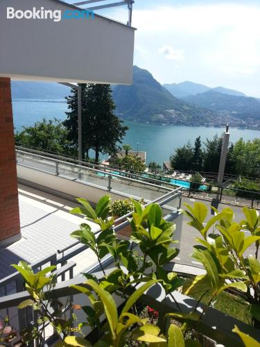 Good choice, two bedrooms. Enjoy your swimming pool in Lugano!