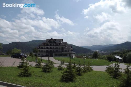Apartamento para parejas en Gura Humorului con terraza y wifi