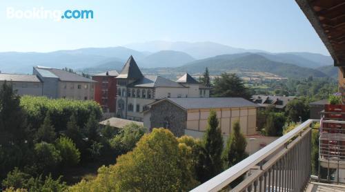 Place in La Seu d'Urgell with heat