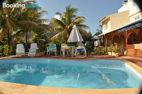Two bedroom place. Enjoy your pool in Tamarin!