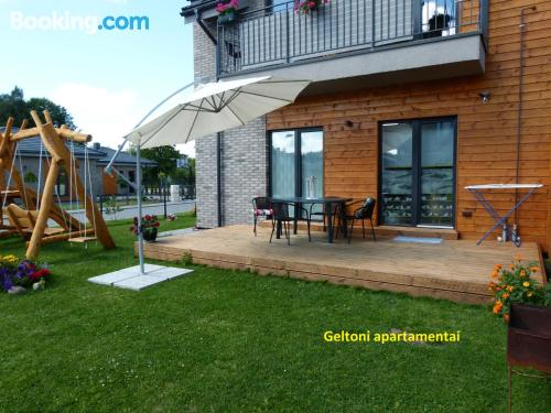 Terrace and internet home in Palanga with heat