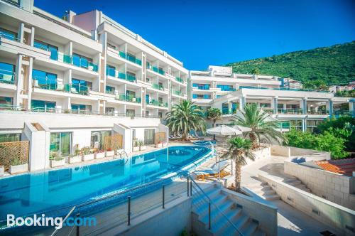 Cot available. Enjoy your pool in Petrovac na Moru!