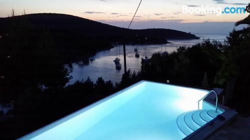 Terrace and internet place in Hvar. Good choice for groups