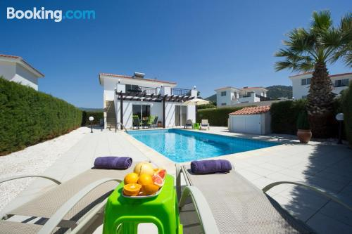 Swimming pool with air home and terrace