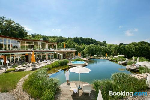 Pool and internet place in Bad Waltersdorf for two people