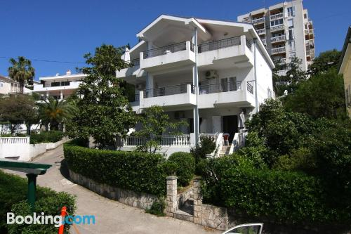 Terrace and internet place in Herceg-Novi with heat