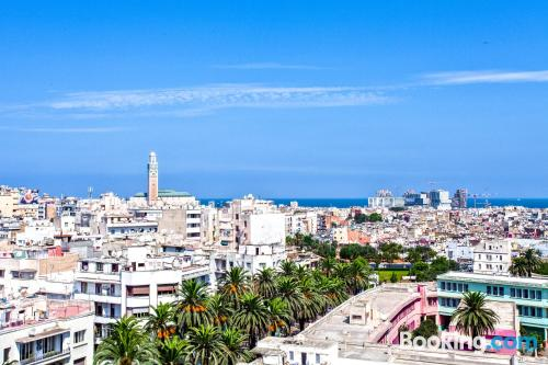 Home in Casablanca with heat and internet