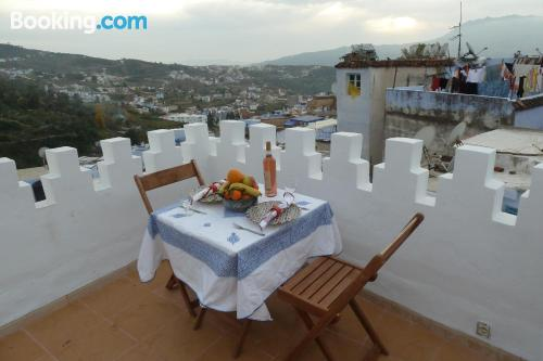 Place for two in Chefchaouene. Terrace!