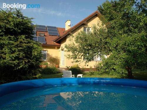 Two room home in Turnov. Swimming pool!