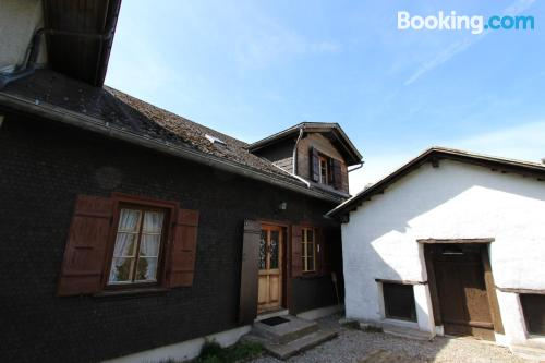 Terrace and wifi apartment in Rossinière. Good choice for 6 or more