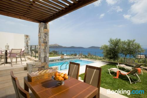 Terrace and wifi apartment in Elounda. Comfy!