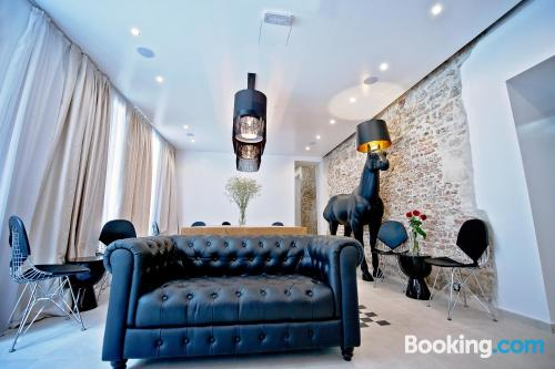 Amazing location with air-con in Split, terrace and internet