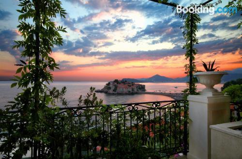 Sleep in Sveti Stefan. Enjoy your terrace