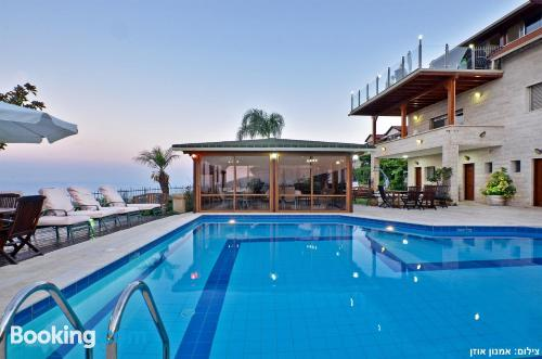 Place in Rosh Pinna with terrace and swimming pool