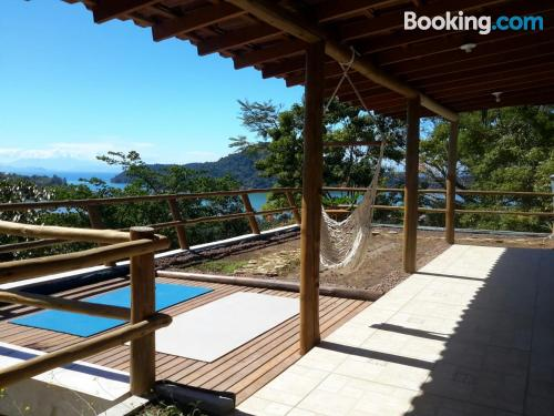 Place for two in Paraty with terrace and internet