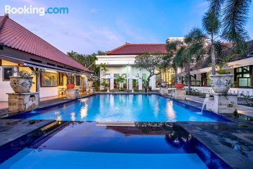 Stay cool: air-con home in Denpasar for 2